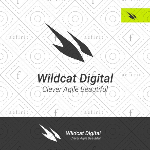 Animal claw logo with the title 'Wild W Logo'