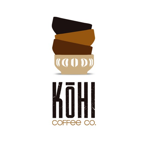 Green and blue design with the title 'Kohi Coffee Co.'