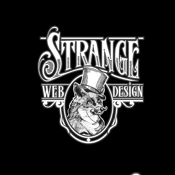 Strange logo with the title 'Strange Web Design'