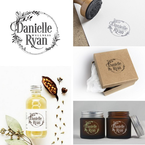 Herbal design with the title 'Danielle Ryan Wellness'