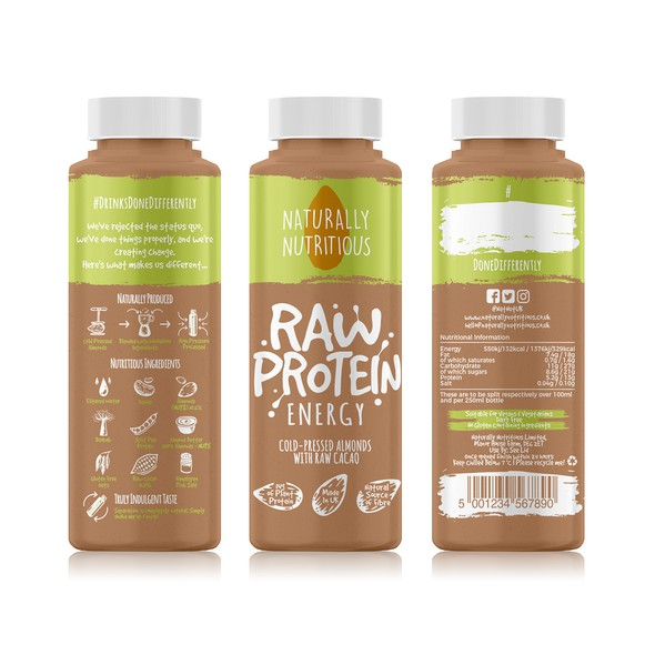 Smoothie label with the title 'Naturally Nutritius Label'