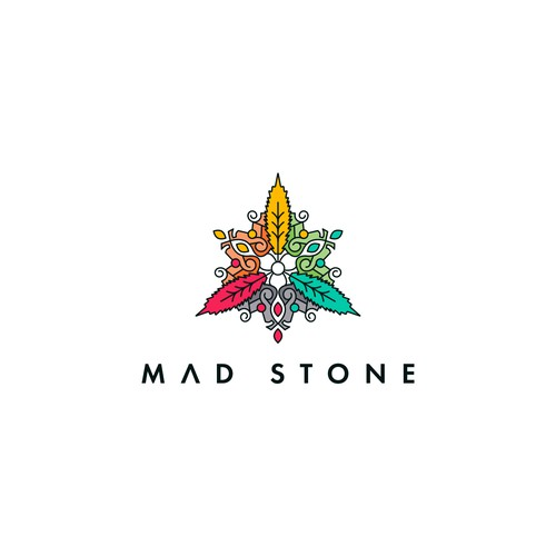 Granite logo with the title 'Logo design for Mad Stone'