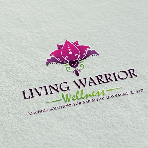 Lotus logo with the title 'Wellness logo'