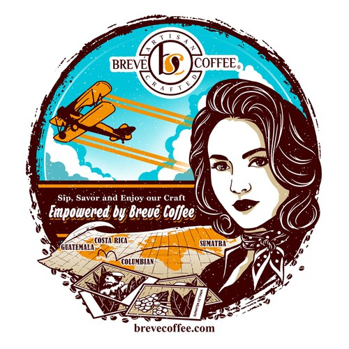 Coffee t-shirt with the title 'Brave Coffee Girl'