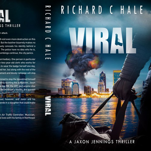 Suspense book cover with the title 'Viral - A Jaxon Jennings Thriller'