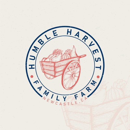 Stamp logo with the title 'Logo for Organic Family Farm'