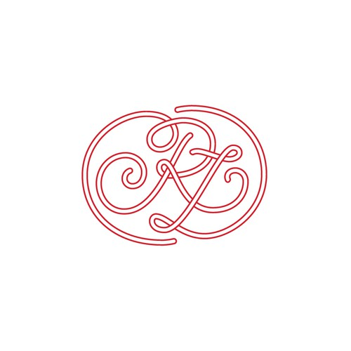 Cursive design with the title 'RL logo for personal website'