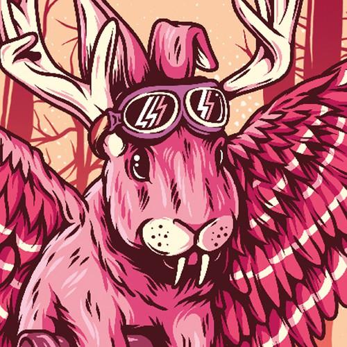 Beer artwork with the title 'WOIPADINGA'