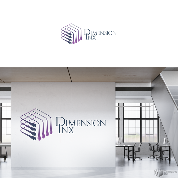 Printing logo with the title 'logo for dimension inx'