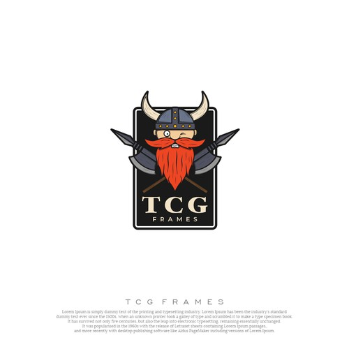 Viking logo with the title 'TCG FRAMES'