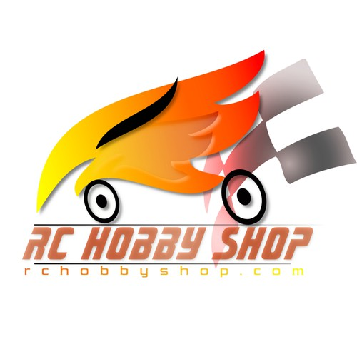 Hobby logo with the title 'Logotipo Rc Hobby Shop'