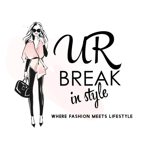 Lifestyle design with the title 'Catchy logo for a fashion and lifestyle blog'