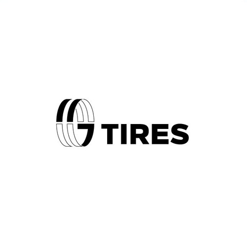 Truck brand with the title 'logo tires'