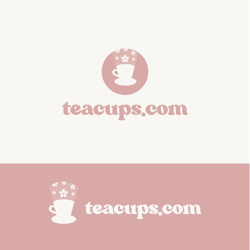 Cherry blossom logo with the title 'Logo for a tea store'