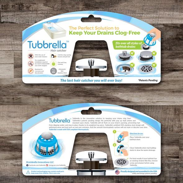 Household design with the title 'Tubrrella Blister Card Design'