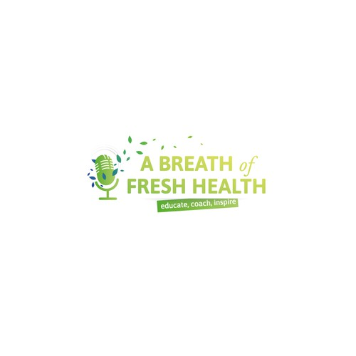 Breeze logo with the title 'logo design for Podcast relating to health'
