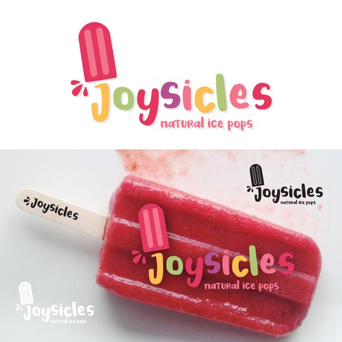 Popsicle design with the title 'Bold Popsicle brand logo'