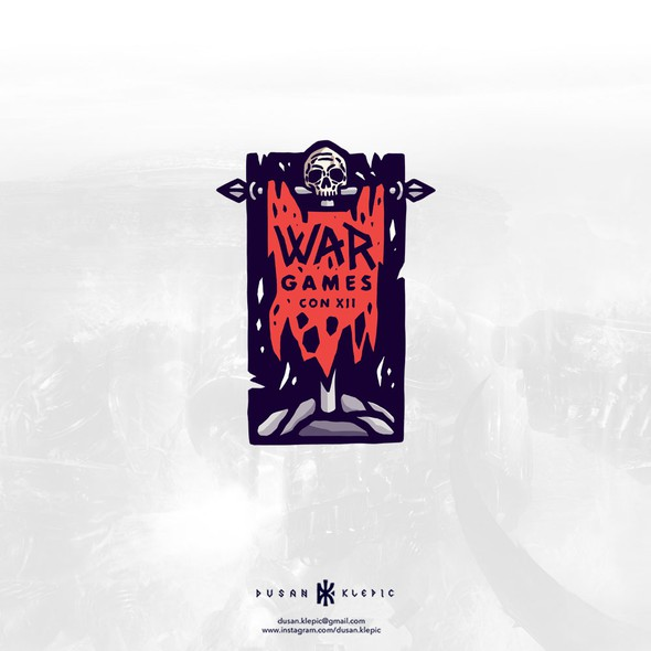 Convention design with the title 'War Games Con XII'