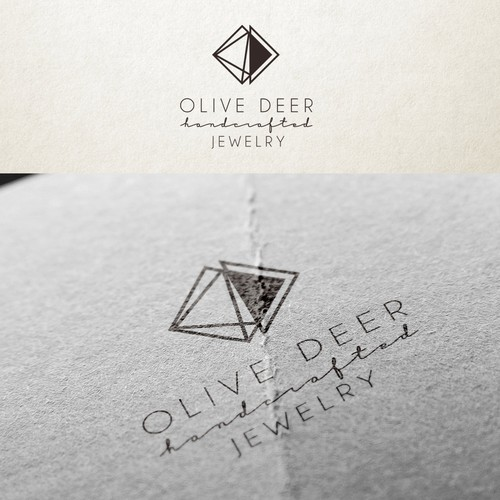 Gem design with the title 'Olive Deer Handcrafted Jewelry'