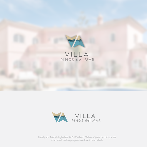 Accommodation logo with the title 'Villa Pinos del Mar'