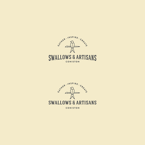 Swallow design with the title 'Logo concept for swallows & artisans'