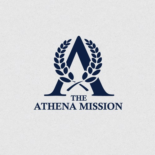 Initial brand with the title 'Athena Mission'