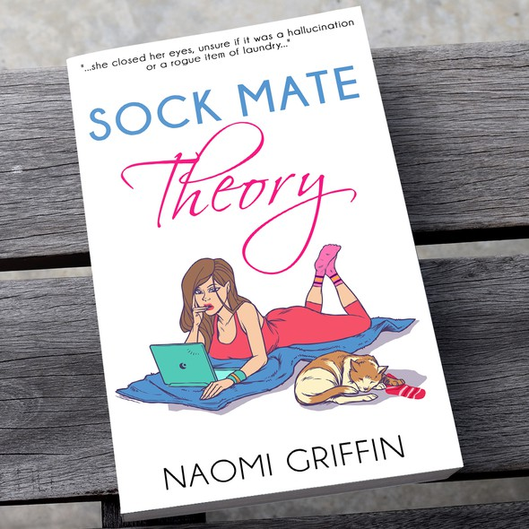 Chick lit design with the title 'Sock mate theory'