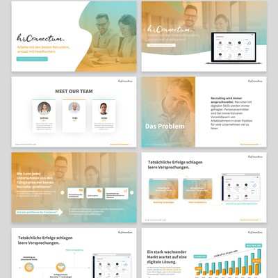 Pitch Deck Design For a Web Company
