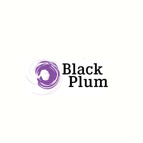Black and purple logo with the title 'Logo Refresh for Real Estate Investment Firm'