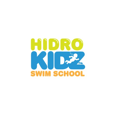 Splash logo with the title 'Logo for a swim school for kids'