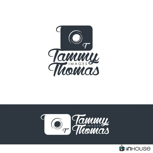 Cursive logo with the title 'Design Logo for a Photographer'