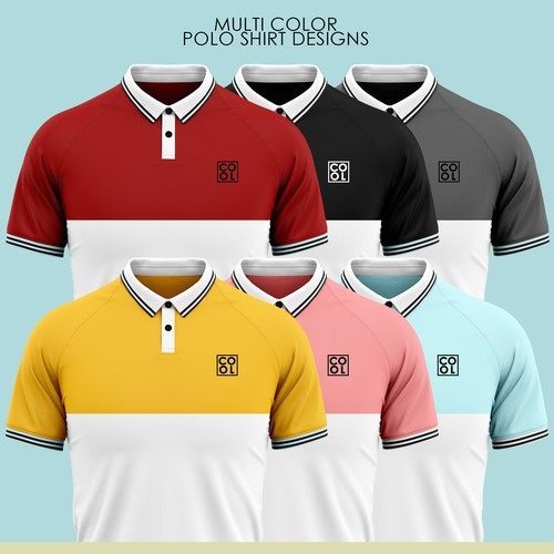 Polo design with the title 'Polo Shirt Design for Spanish Millennials'