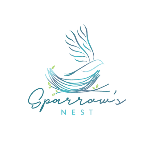 Nest logo with the title 'Sparrow's nest'