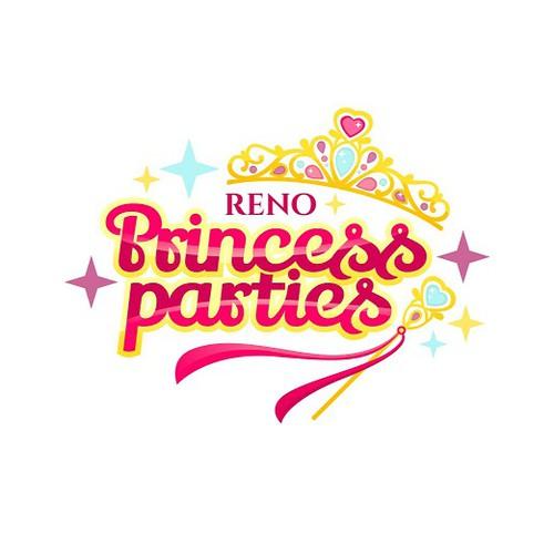 Princess logo with the title 'Princess Parties Logo'