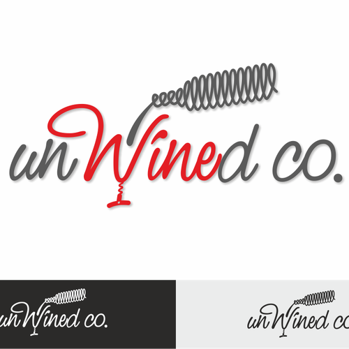 Wine glass design with the title 'unWined Co.'
