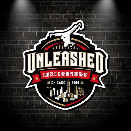 Championship design with the title 'Unleashed World Championship Logo'