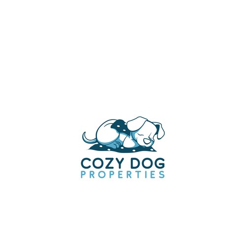 Cozy logo with the title 'Hand draw dog'