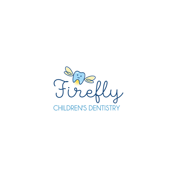 Firefly logo with the title 'Cute logo concept for children's dentistry'