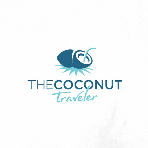 """Oil brand with the title 'The Coconut Traveler"""" - Travel that Transforms - Starts with a Design That Transforms'"""