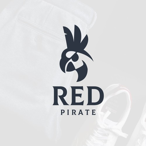 Parrot design with the title 'RED PIRATE'