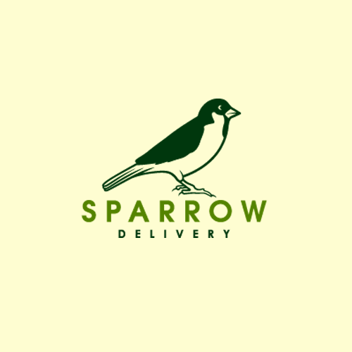 Delivery logo with the title 'Logo Design for Sparrow Delivery.'