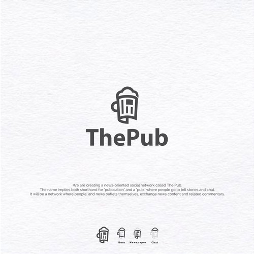 Publication design with the title 'Logo Concept for ThePub'