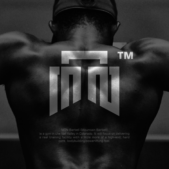 Hardcore logo with the title 'MTN Barbell Logo Concept'