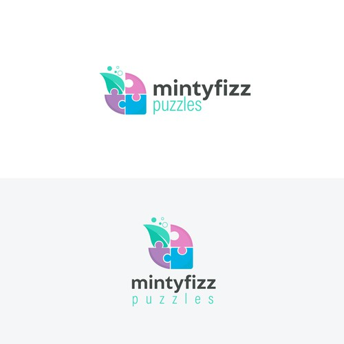 Puzzle piece design with the title 'Playful logo design'