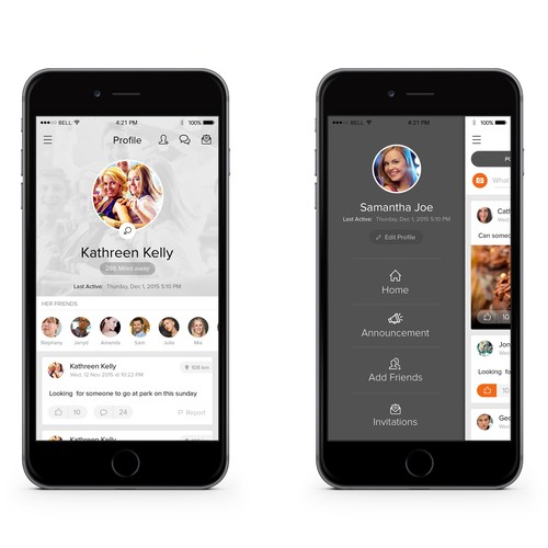 Listing design with the title 'iPhone App'
