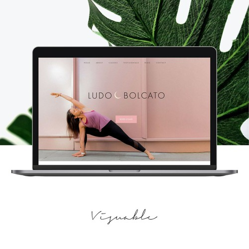 Pink and black design with the title 'Yoga Instructor '