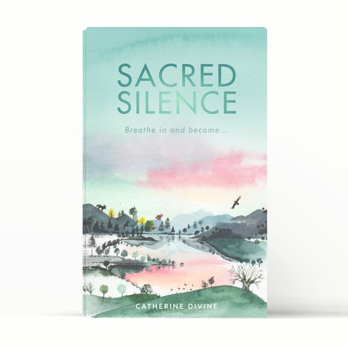 Yoga book cover with the title 'Inspire people to sit and enjoy silence'