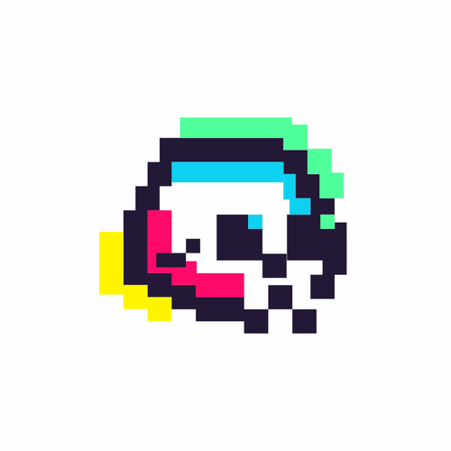 Pixel art design with the title 'Pixel '