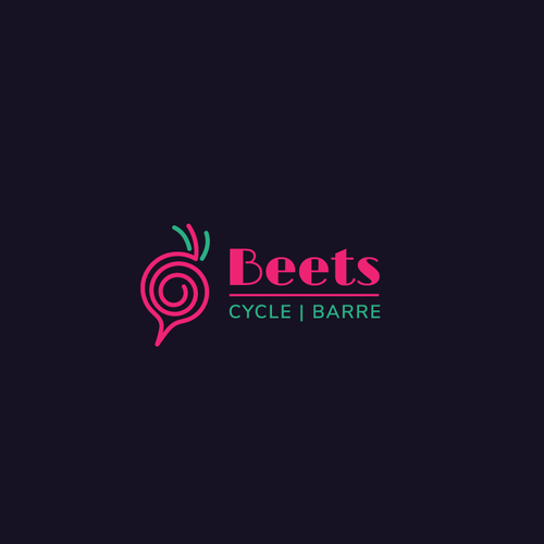 Neon logo with the title 'Logo concept for a physical fitness company'