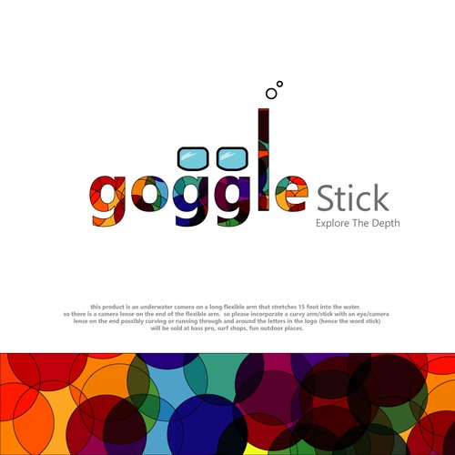 Stick logo with the title 'goggle stick'